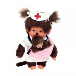 Monchhichi bamse - Sygeplejeske med nyfødt