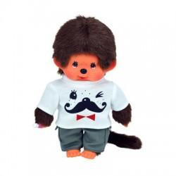 Monchhichi bamse - Dreng med Moustache T-shirt