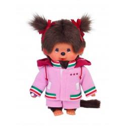 Monchhichi bamse - Pige med pink træningstøj
